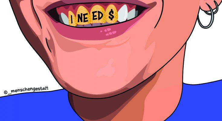 spenden ineedmoney sticker w e1618851092157
